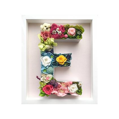 Preserved flower letter - framed