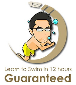Swimin12, Famous Swimming Lessons, Best Swimming Coach in Malaysia, Learn to Swim for Free, How to Swim, Guaranteed Logo