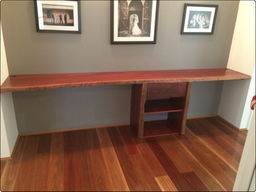 Solid Jarrah Desk & Drawer