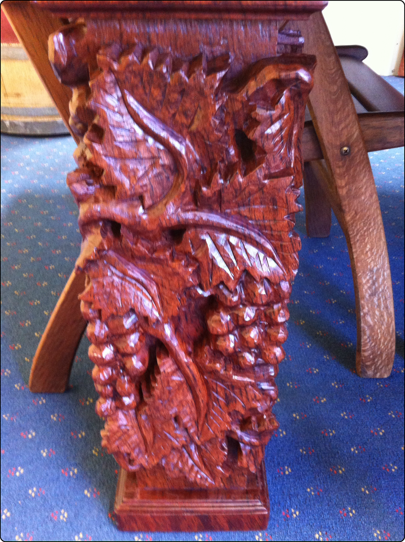 Hand Carved Jarrah Legs