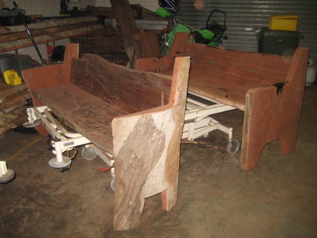 Jarrah bench seats
