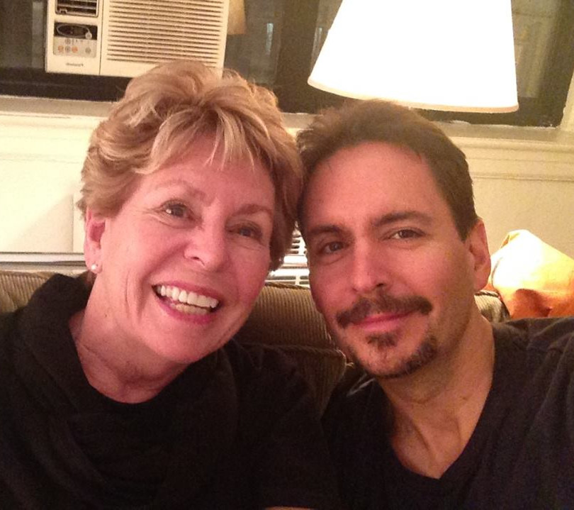 Mo and her son, Kenny, the night before the Whipple surgery