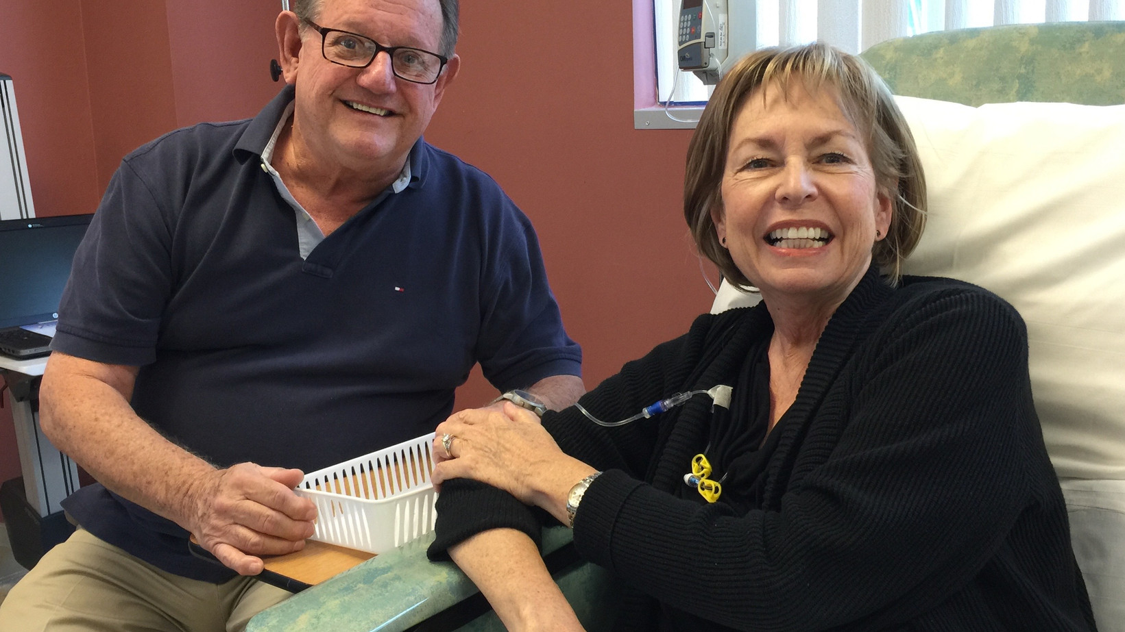 Bonus Content: Jason (Mo's Son) surprise mo in Florida during her last chemo session...