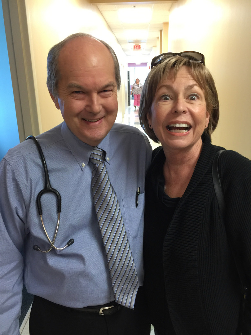Mo and her oncologist, Dr. Harris
