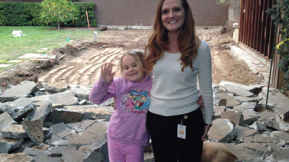 Nola (grandaughter) and Shelly (daughter-in-law) wish Mo luck before her big surgery!