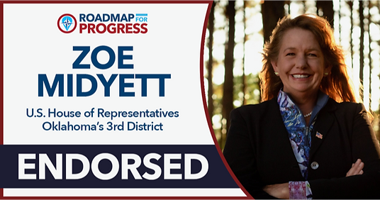 Midyett 2020 for US Congress Oklahoma District 3 - Roadmap for Progress Endorsement