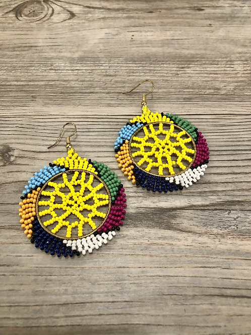 Aztec Pattern Seedbead Earrings