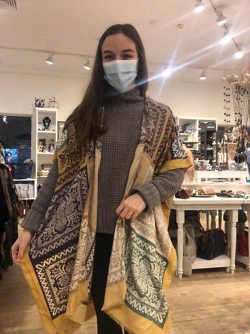 Patchwork Print Kimono