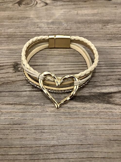 Heart Metal Magnetic Bracelet