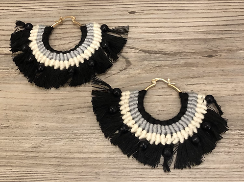 Layered Multi-Colored Earrings