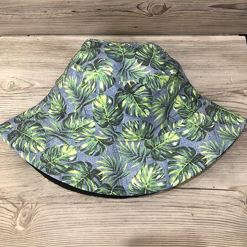 Tropical Leaf Reversible Bucket Hat