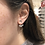 Thumbnail: Moon and Star Sterling Silver Earrings