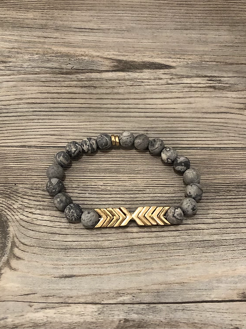 Chevron Stone Stretch Bracelet