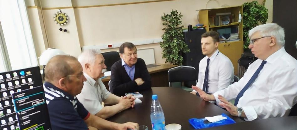 Встреча с руководством Российского общества геодезии, картографии и землеустройства