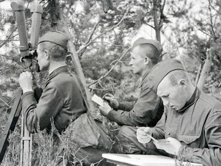 Военные геодезисты и топографы на защите Ленинграда
