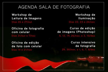 A agenda da Sala de Fotografia
