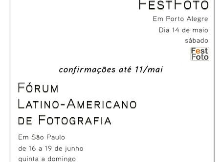 Saídas fotográficas: FestFoto e Fórum de Fotografia