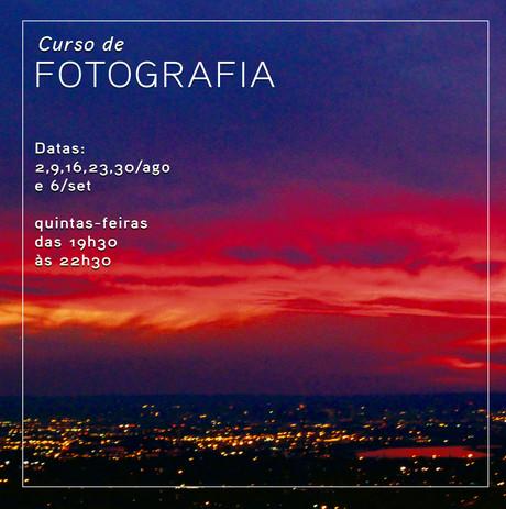 Curso de fotografia em agosto