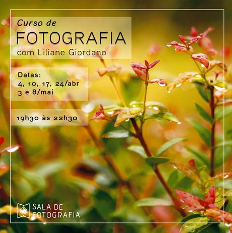 Turma do curso de fotografia em abril