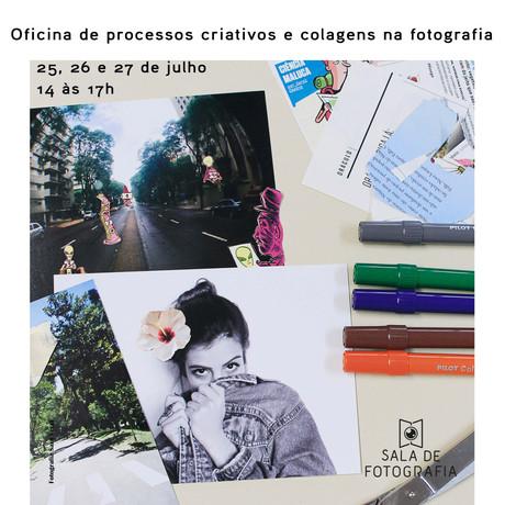 Oficina de processos criativos e colagens na fotografia