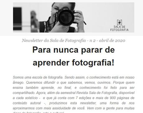 #2 News Sala de Fotografia: Para nunca parar de aprender fotografia!