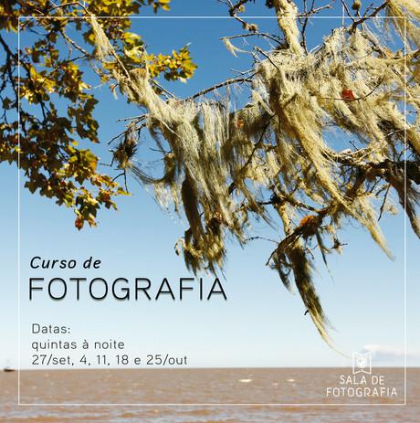 Nova turma do curso de fotografia em outubro!
