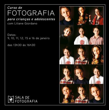 Curso de fotografia para crianças e adolescentes