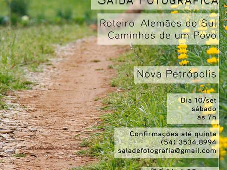 Saída fotográfica de setembro tem roteiro em Nova Petrópolis