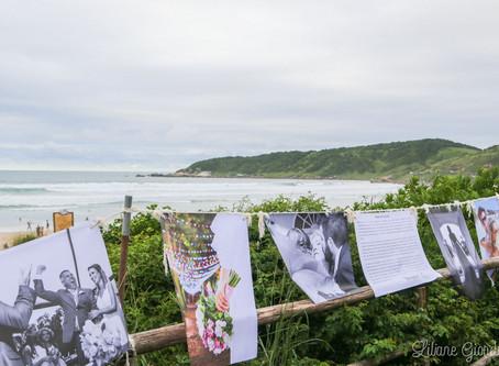 Exposição de fotografias de casamento segue até o fim do mês na Praia do Rosa