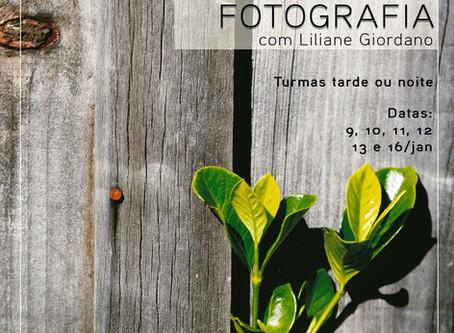 Curso intensivo de fotografia  em janeiro!
