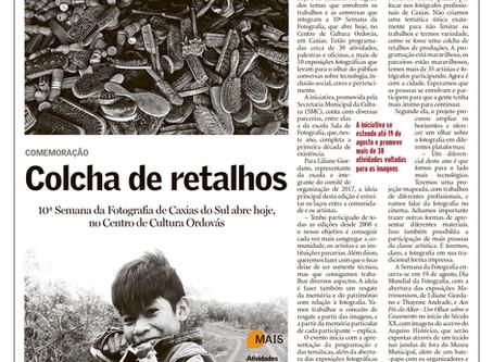 Entrevista no Jornal Pioneiro sobre Semana da Fotografia