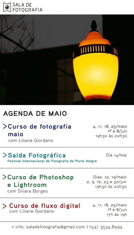 A Sala de Fotografia em maio