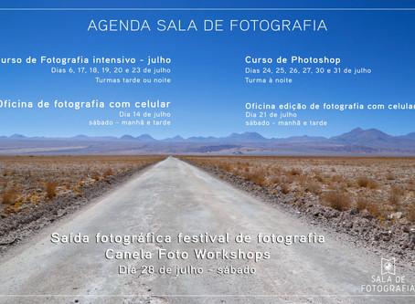 A agenda de julho da Sala de Fotografia!