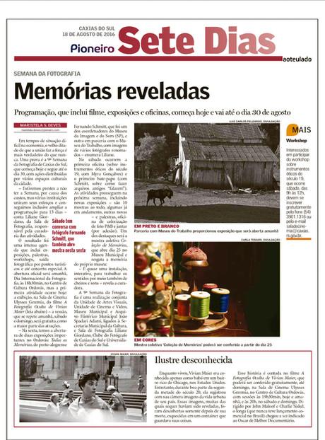 Semana da Fotografia de Caxias do Sul tem curadoria de Liliane Giordano