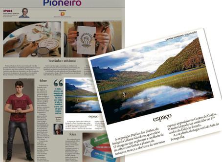 Exposição Poética das Linhas é notícia no Jornal Pioneiro