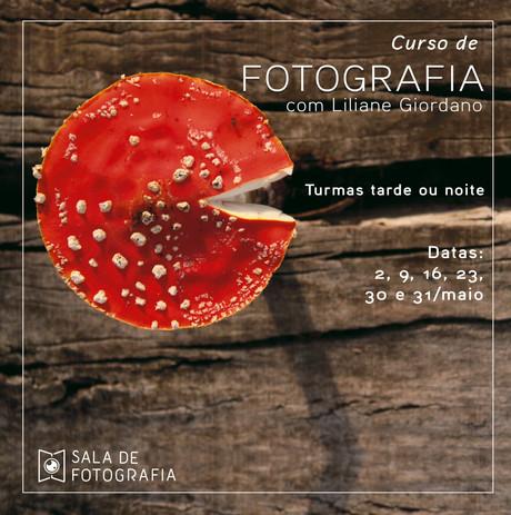 Turmas tarde ou noite do curso de fotografia em maio!