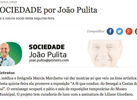 Exposição é notícia no Jornal Pioneiro