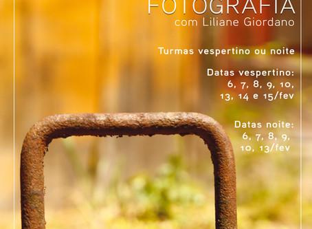Em fevereiro, têm novas turmas do curso de fotografia!