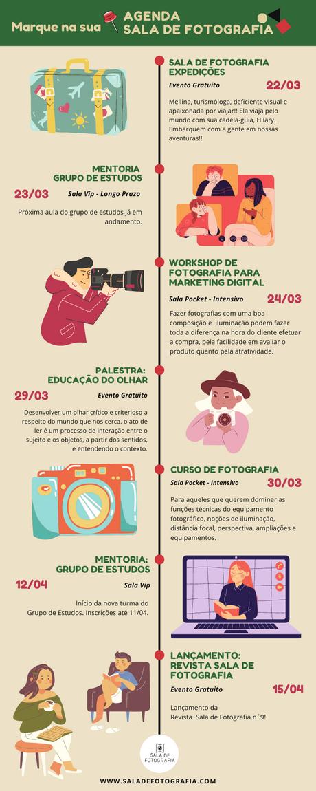 Agenda da Sala de Fotografia <3