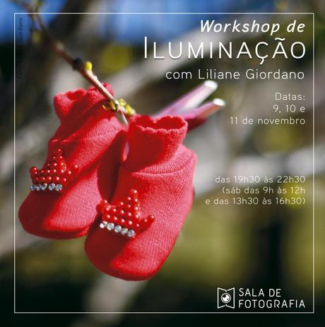 Workshop de iluminação em novembro!