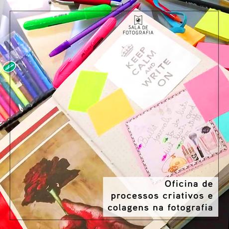 Oficina de criatividade na fotografia e diário visual