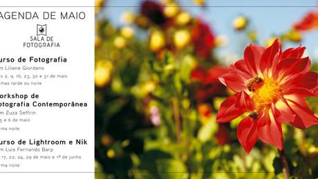 A agenda de maio da Sala de Fotografia