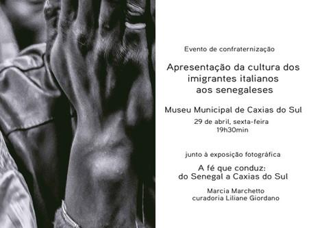 Evento de confraternização apresenta  cultura dos imigrantes italianos aos senegaleses