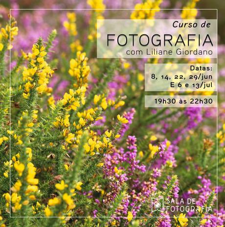 Nova turma do curso de fotografia em junho!