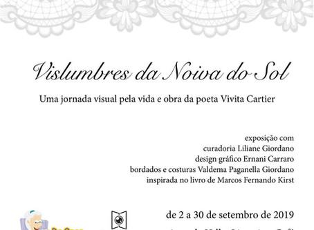 Exposição sobre a poeta Vivita Cartier na Livraria Do Arco da Velha!