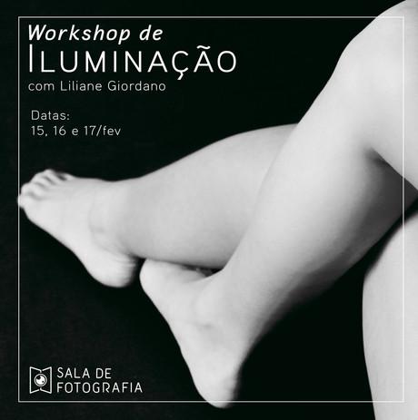 Workshop de iluminação em fevereiro!