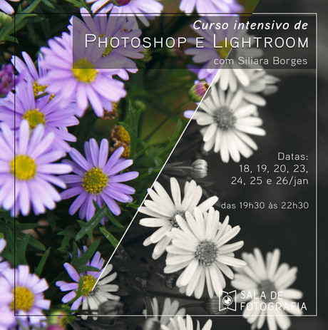 Nova turma do curso de Photoshop e Lightroom