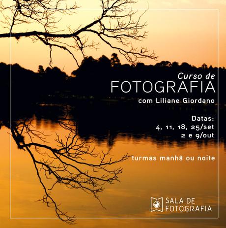 Novas turmas do curso de fotografia em setembro!