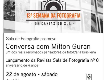 Lançamento da Revista Sala de Fotografia nº 8 com Milton Guran como convidado!