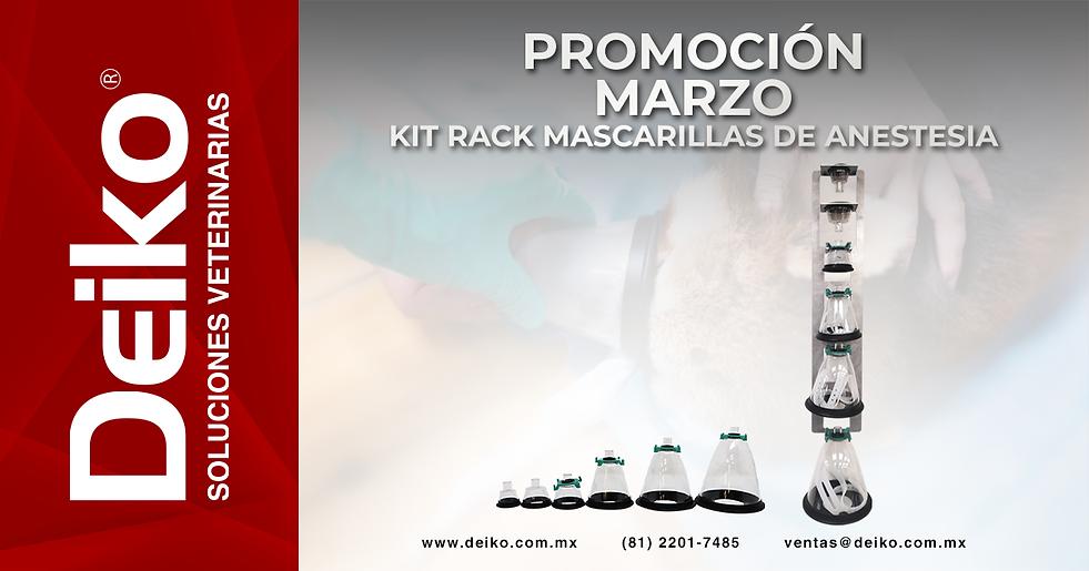 Promoción Deiko Kit Rack Mascarillas de